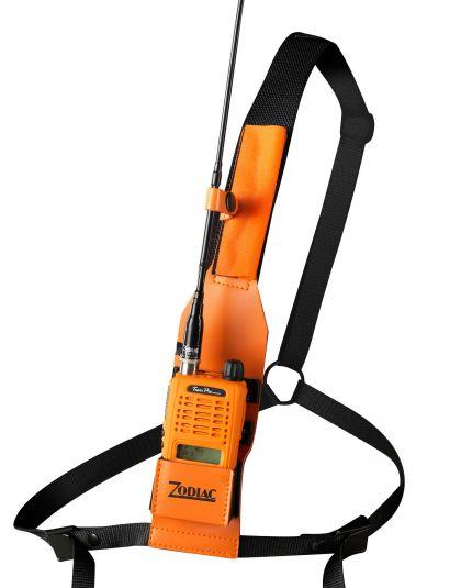 z43157 zodiac funda piel universal con arnes de nylon para pecho. color naranja