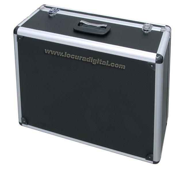 TLCASE10 LUTHOR Maleta de aluminio color negro para 10 unidades walkies LUTHOR