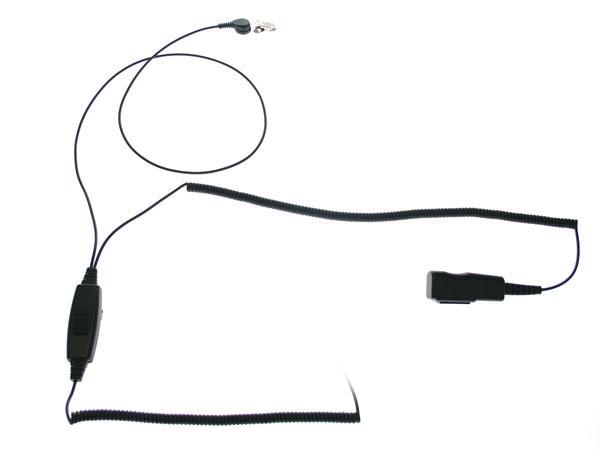 PIN MAT-M. Micro-Auricular tubular con DOBLE PTT especial para ambientes ruidosos, uso Militar, Seguridad o industrial. Ideal para Vigilancia en Discotecas, conciertos, etc....