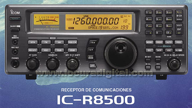 ICOM IC-R8500 Receiver continuous band of 0 1 to 2000 MHz