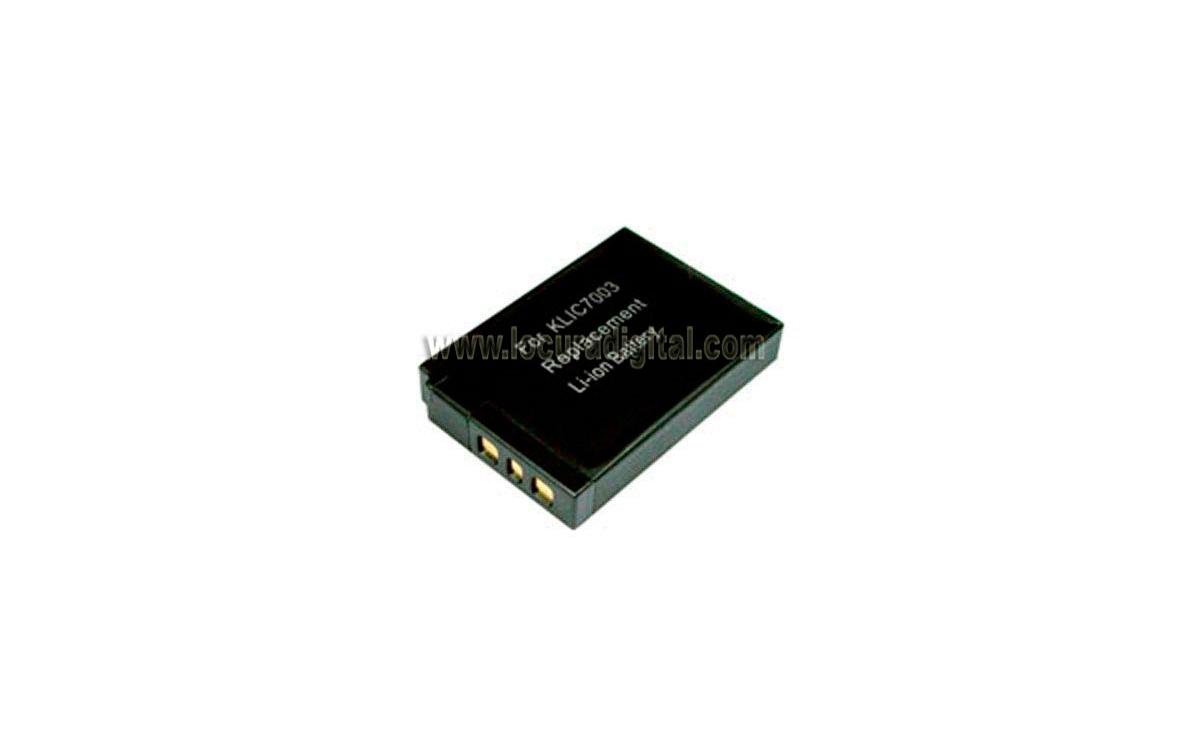 Batería DTLKLIC7003 Li-Ion, compatible Foto KODAK, 3.6V 1050mAh