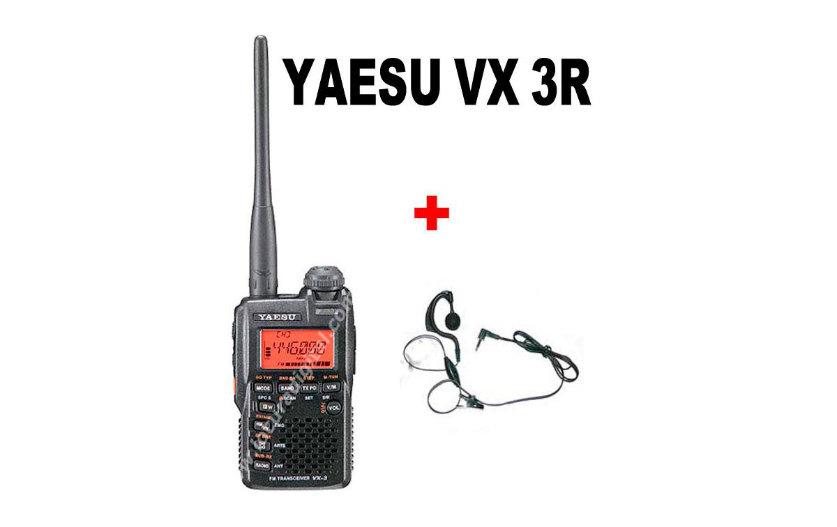 YAESU VX-3 R KITA Walkie doble banda VHF/UHF+ PINGANILLO DE REGALO