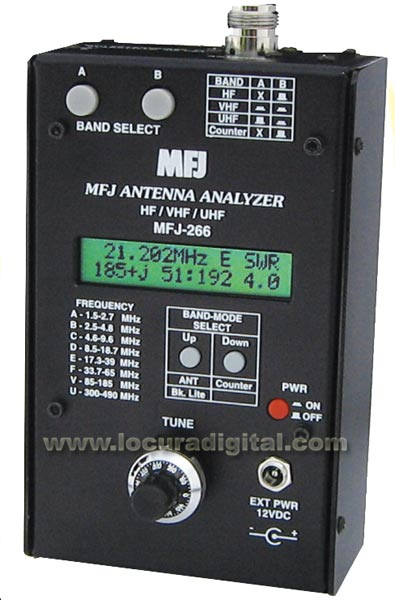 MFJ-266 antenna analyzer HF / VHF / UHF