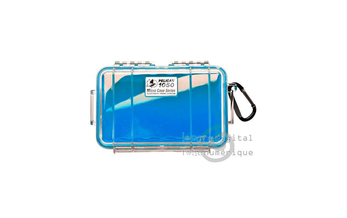 1050-026-100E Micro-Maleta de protección Transparente-Azul