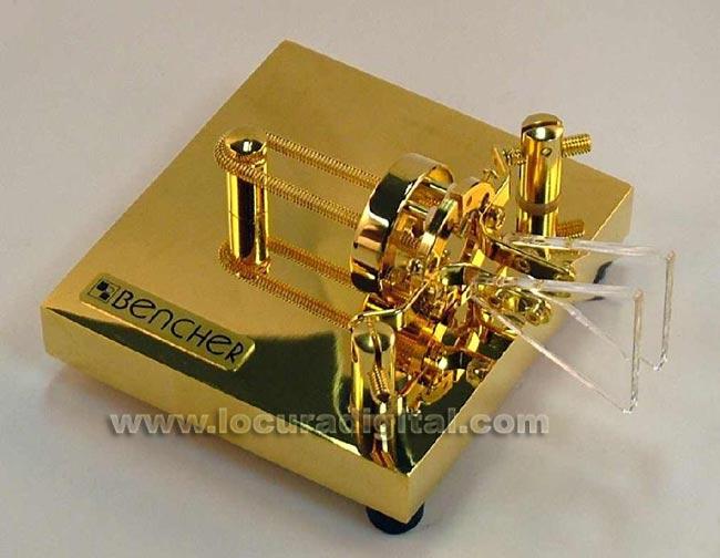 Bench-BY1 paddle key to CW Morse telegraph