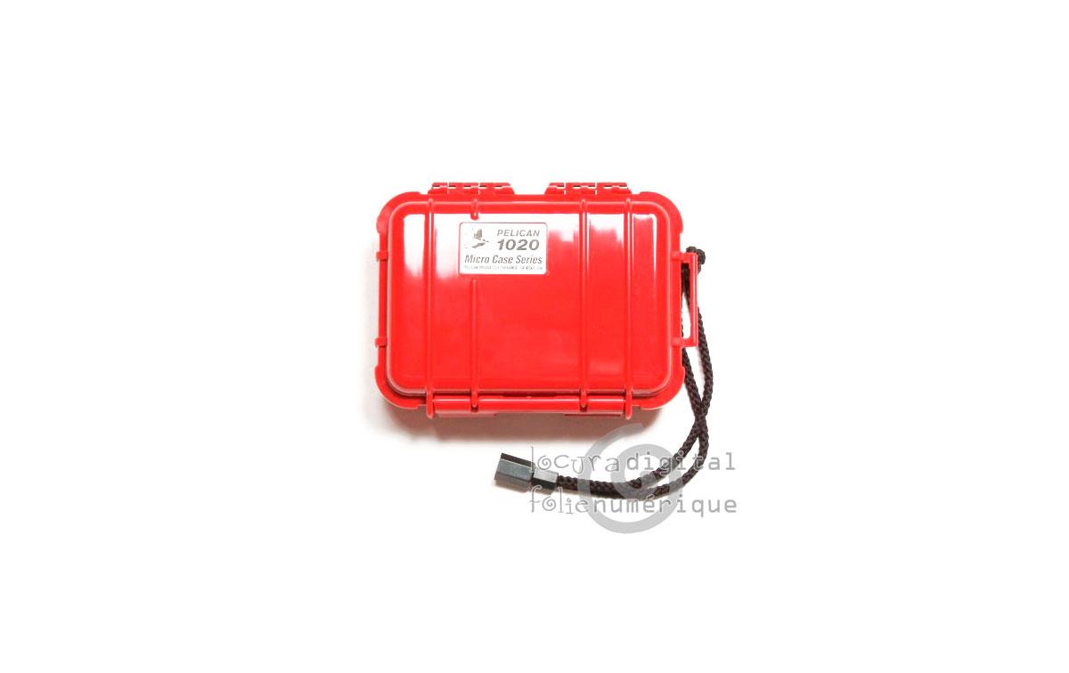 1020-025-170E Micro-Maleta de protección Rojo - Opaco
