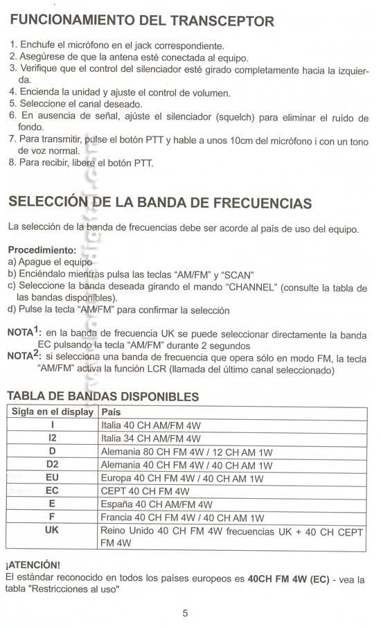 INSTRUCCIONES ALAN78