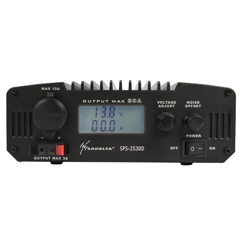 SADELTA SPS 2530D Fuente Alimentación Conmutada Display 220 volt AC/13,8DC (regulable 9-15 v), 30 Amp.