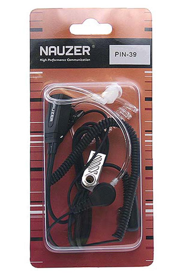 NAUZER PIN 39 M Micro Auricular tubular con PTT especial para ambientes ruidosos