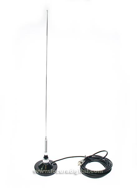 mirmidon vh-4r vhf mobile antenna with magnet base spring 9 cm.