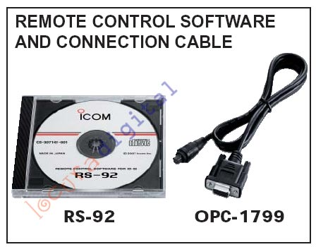 RS-92 Software de IC-E92D Incluye OPC-1799 ICOM