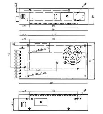 ASI32024 LAFAYETTE Fuente Alimentación Conmutada Industrial 320 W,voltage 24 volts. amperios 12 A