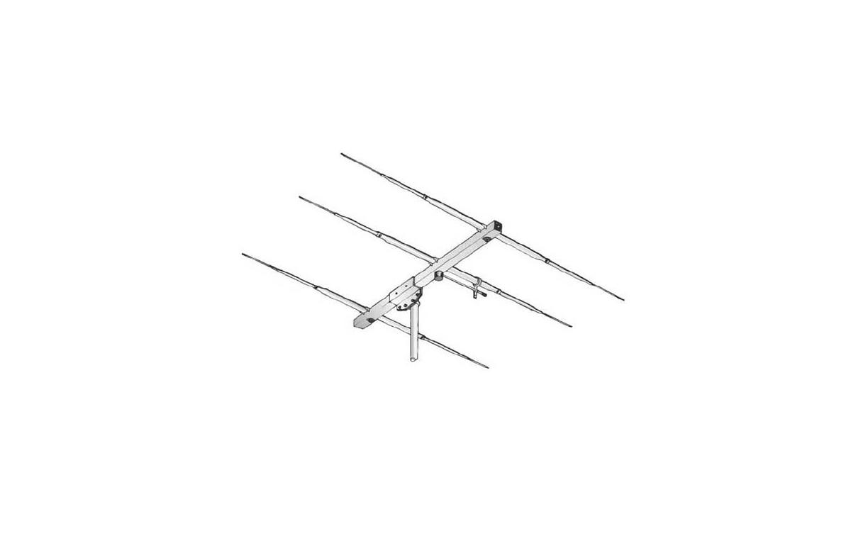 SIGMA3ECB SIGMA Antena directiva tipo YAGI 3 elementos, CB 27 Mhz.