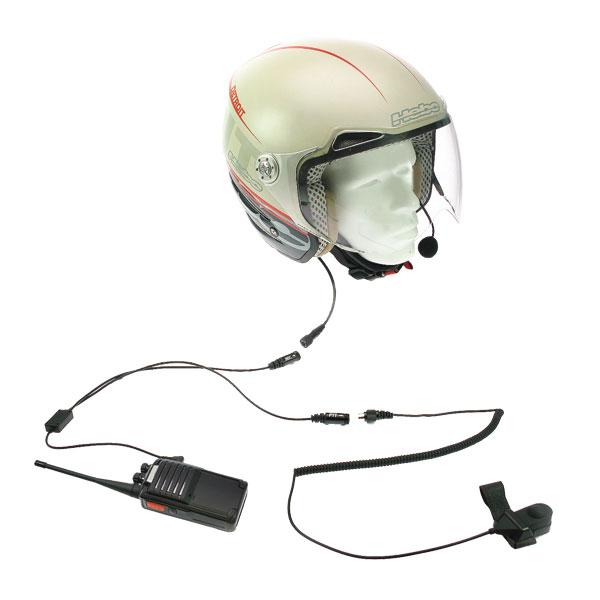 NAUZER KIM66Y2. kit para moto de Microfono tipo pertiga y doble auricular para casco