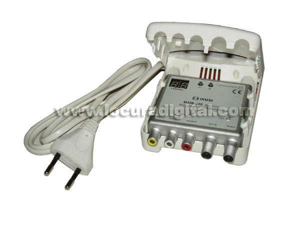 IKUSI MAW-200 Multiband VHF / UHF TV modulator. Easy programming. With display.