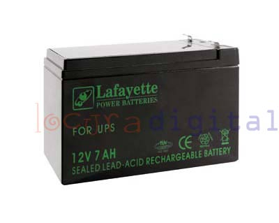 Lafayette RECHARGEABLE LEAD BATTERY VOLTAGE 12 V. Power Sleeps 7 amps. Terminal: T1