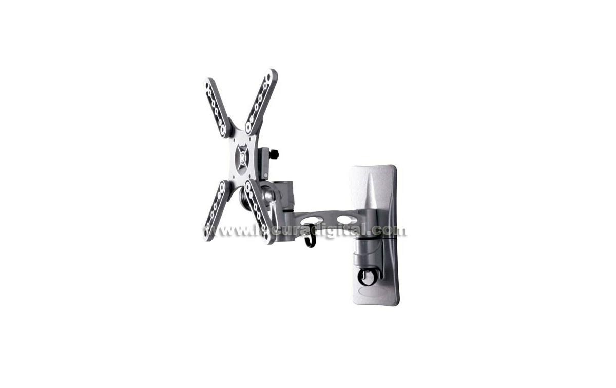 LUNIXPRO-2 Plata - Soporte 2 articulaciones para TV plasma y LCD de 10 a 32 pulgadas