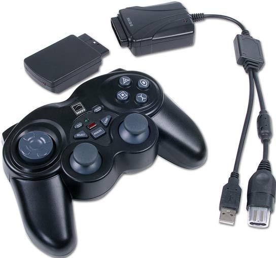 SL-6580 Mando inalambrico 3 en 1. Para PS2, XBOX y PC