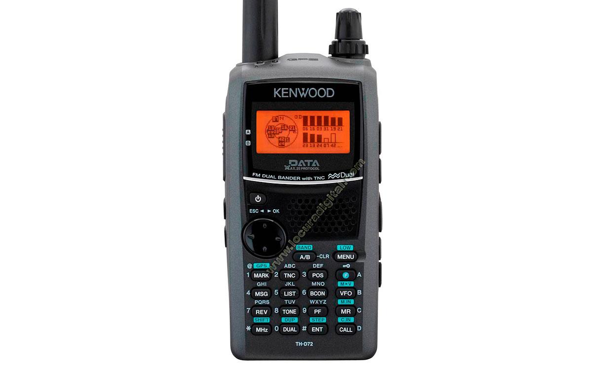 KENWOOD TH-D72E. WALKIE BIBANDA VHF/ UHF  CON TNC (1200/9600) Y  GPS/APRS PREPARADO PARA EchoLink.