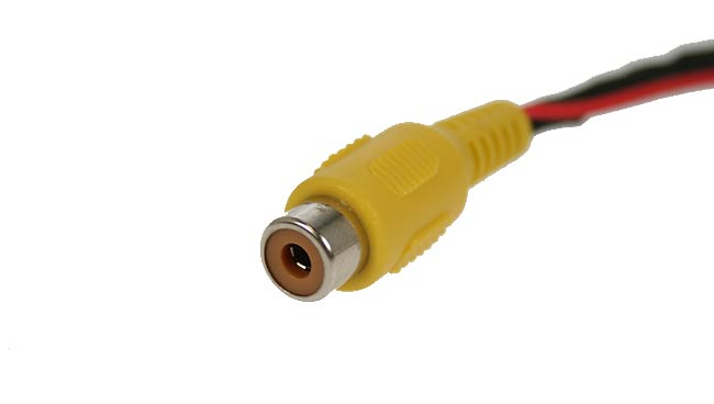 BRV021 BARRISTER Cable adaptación conector 4 pins macho-RCA hembra.Long. 18 cms.