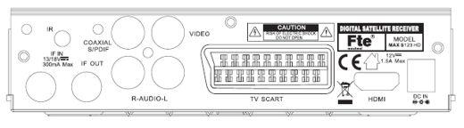 MAXS123HD FTE Receptor Satéllite Digital HD. Funciona a 12 y 220 voltios