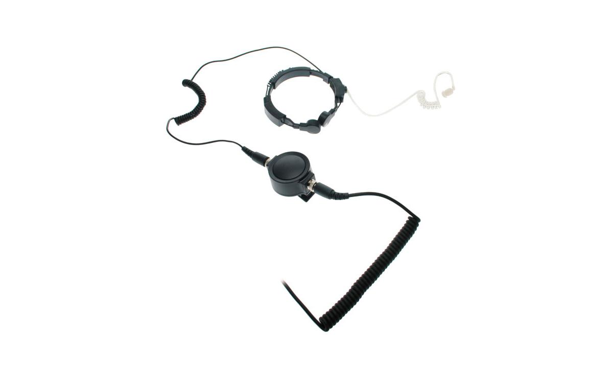 NAUZER PLX-330M4. Laringofono  auricular tubular Profesional de doble captador para MOTOROLA PROFESI
