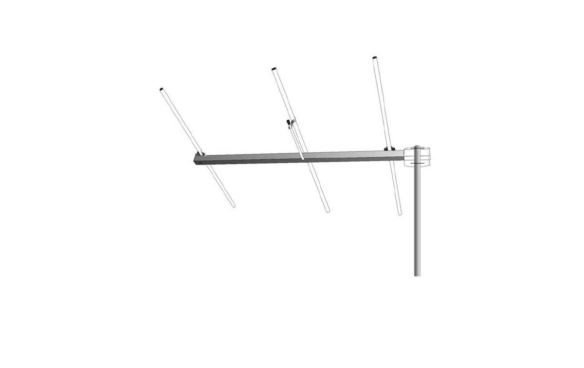 SIGMA 3E145 SIGMA Antena directiva YAGI 3 elementos de VHF 144-146 Mhz.