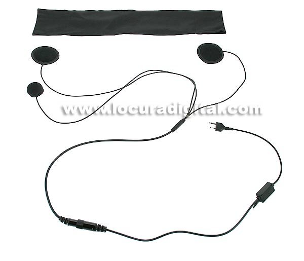 NAUZER KIM-55-SM Headset Microphone Kit for use with helmet. For Alan Midland handhelds