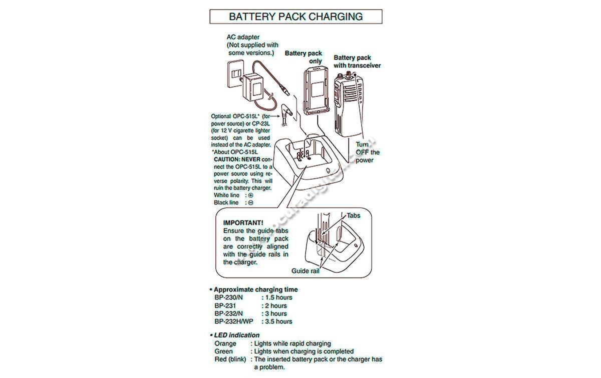 BC160 ICOM Cargador Li-Ion para baterias BP230, BP231 y BP232 - Incluye el BC145
