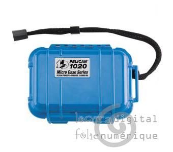1020-025-120E Micro-Maleta de protección Azul - Opaco