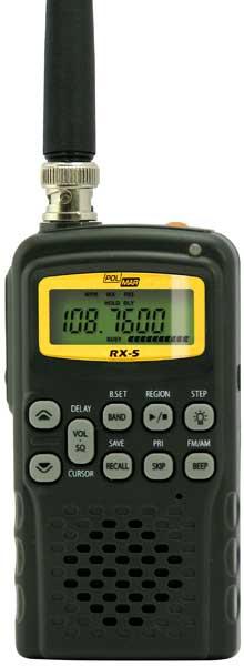 RX5 POLMAR Escaner de frecuencias marca POLMAR