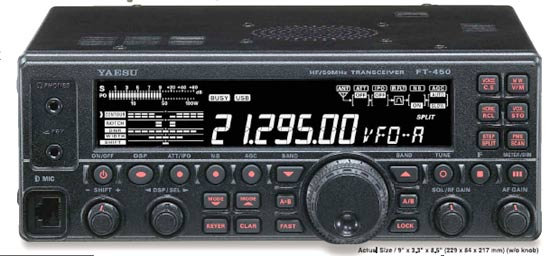 Yaesu Ft 450 At Transceiver Multiband Hf 50 Mhz With