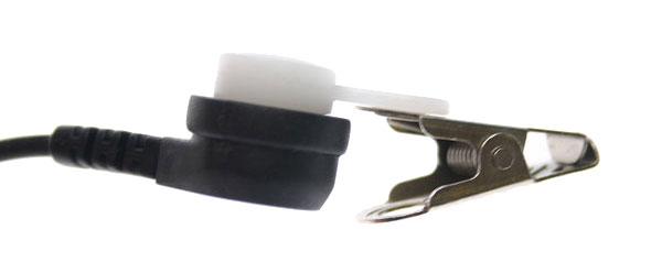 NAUZER PIN MAT-K. Micro-Auricular tubular con DOBLE PTT para KENWOOD