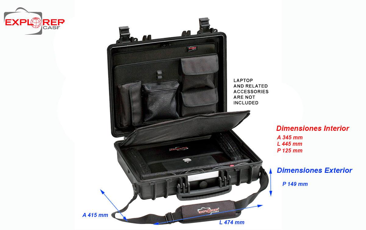 4412bc maleta explorer color negro con organizador ref.panexpl44 y bandolera ref. shoulder-kit-u