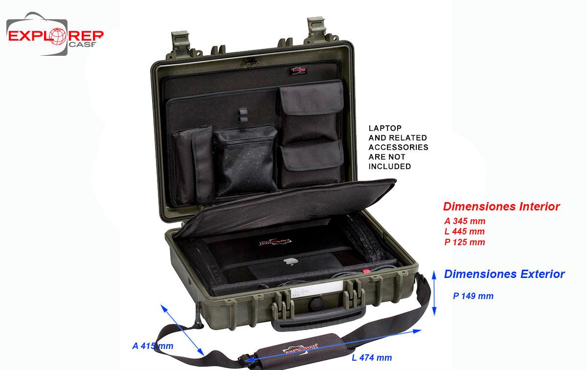 4412gc maleta explorer color verde oliva con organizador ref.panexpl44 y bandolera ref. shoulder-kit-u