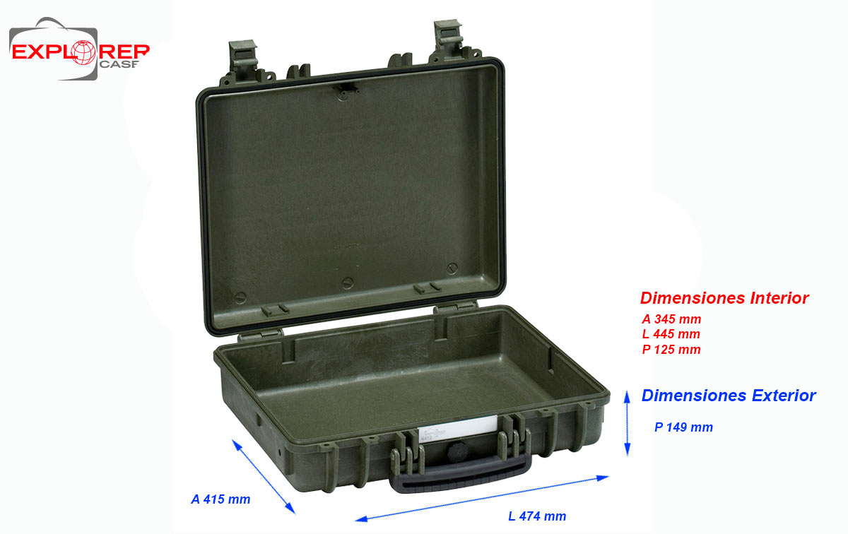 4412ge maleta explorer color verde sin espuma interior l445xa345 xp125