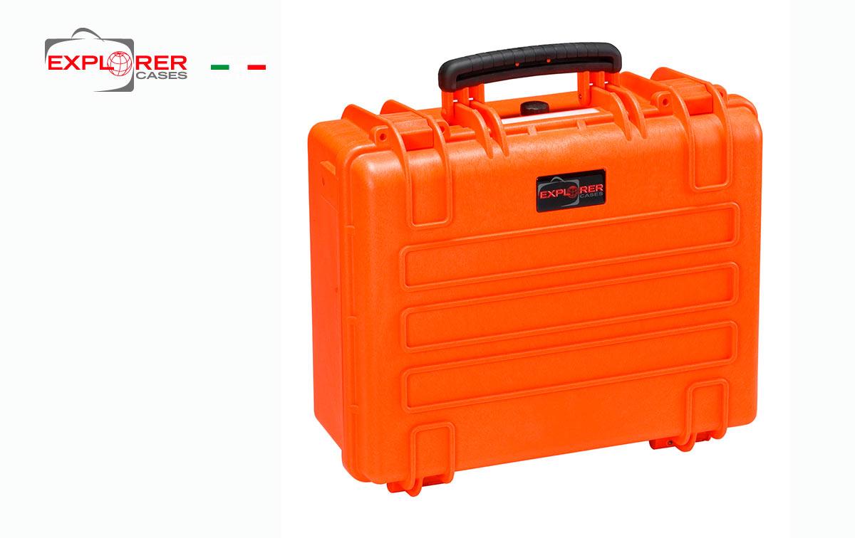 4419O Maleta Explorer naranja con espuma Int L 445 x A 345 x P190 mm