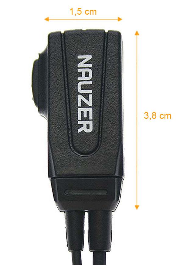 NAUZER PIN 39-Y2 Micro-Auricular tubular con PTT especial para ambientes ruidosos