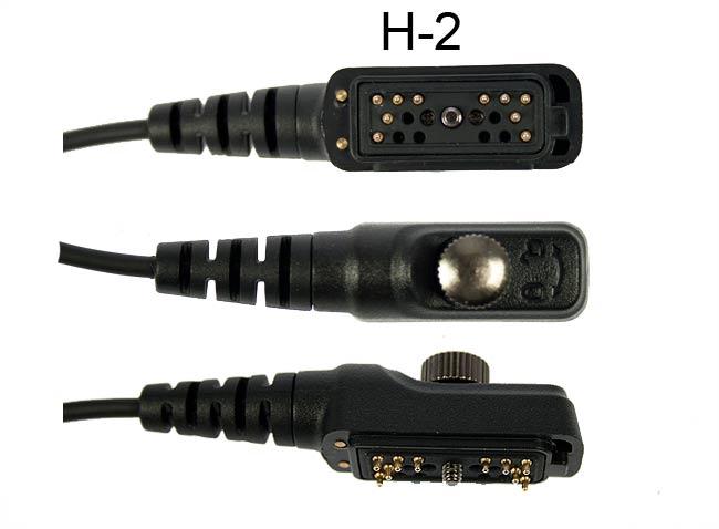 PIN29H2 NAUZER. Micro Auricular orejera, cable rizado negro alta gama. Para walkies HYTERA
