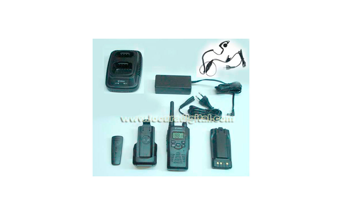 ALAN HP-450 LITIO  Walkie talkie de uso libre con BATERIA de LITIO 2200 mAh + PINGANILLO
