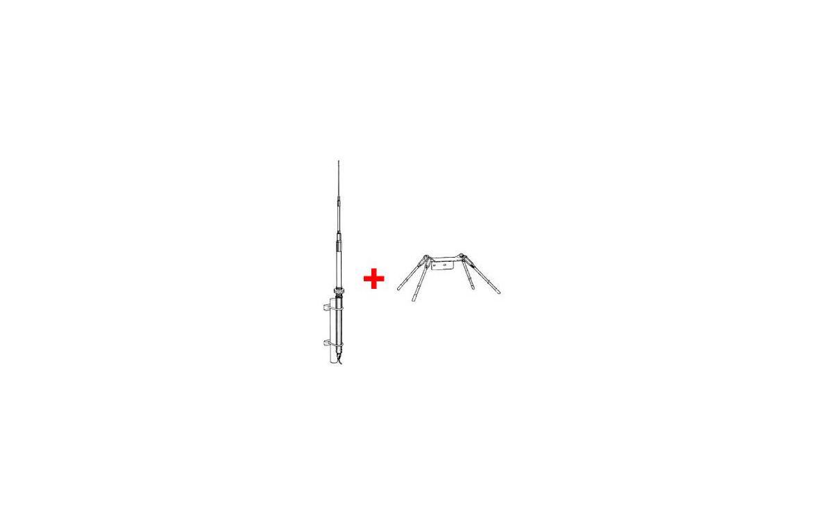 I MAX-2000. Antena fibra de vidrio 26-30 Mhz. 5/8 onda. + Plano tierra GPK-IMAX