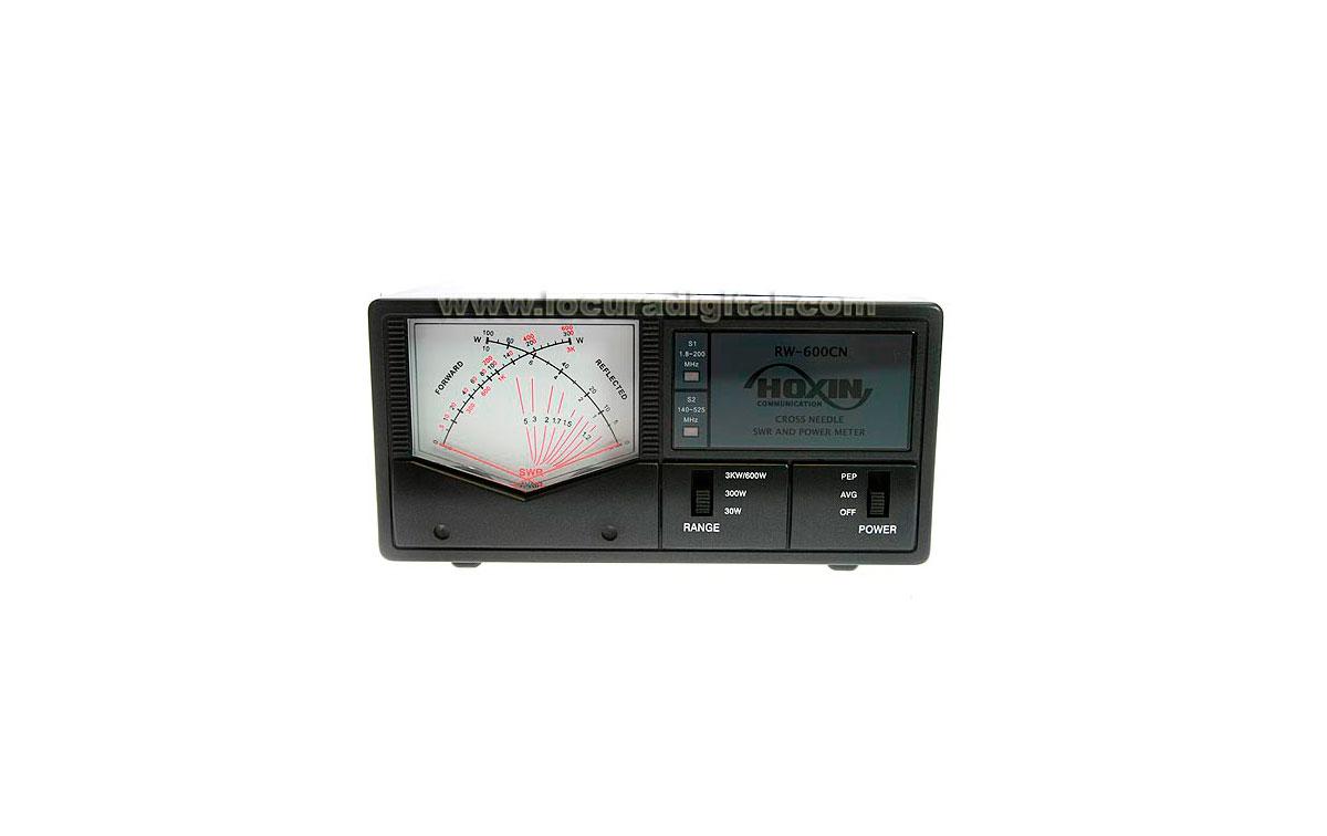 RW600CN HOXIN Medidor ROE / POTENCIA  FRECUENCIA 1,8- 160 / 140 - 525 mHz