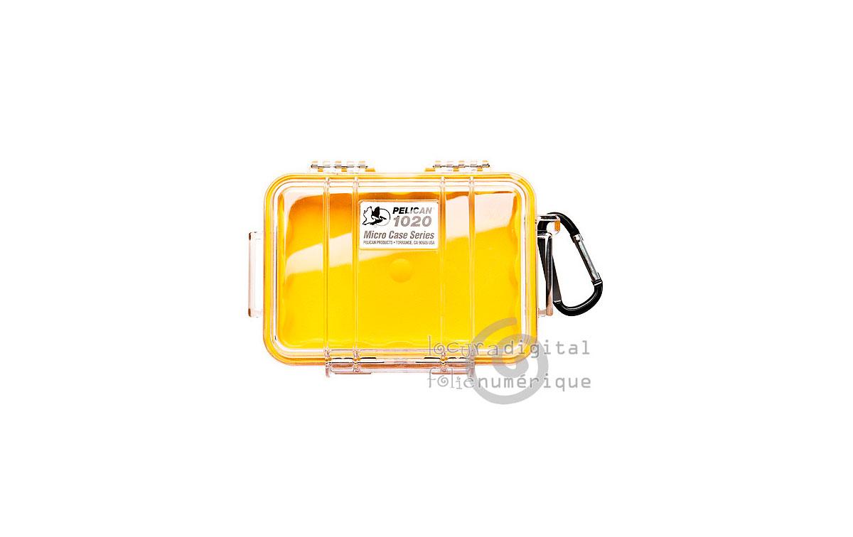 1020-027-100E Micro-Maleta de protección Transparente-Amarilla