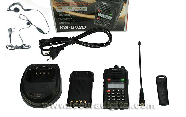 WALKIE WOUXUN KG-UV2D KIT 1 DUALBAND contents