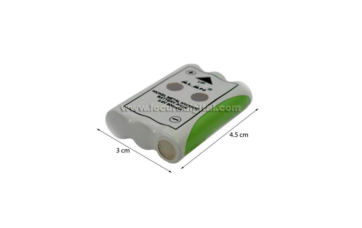 batería alan 441 443 3.6v 600 mah.