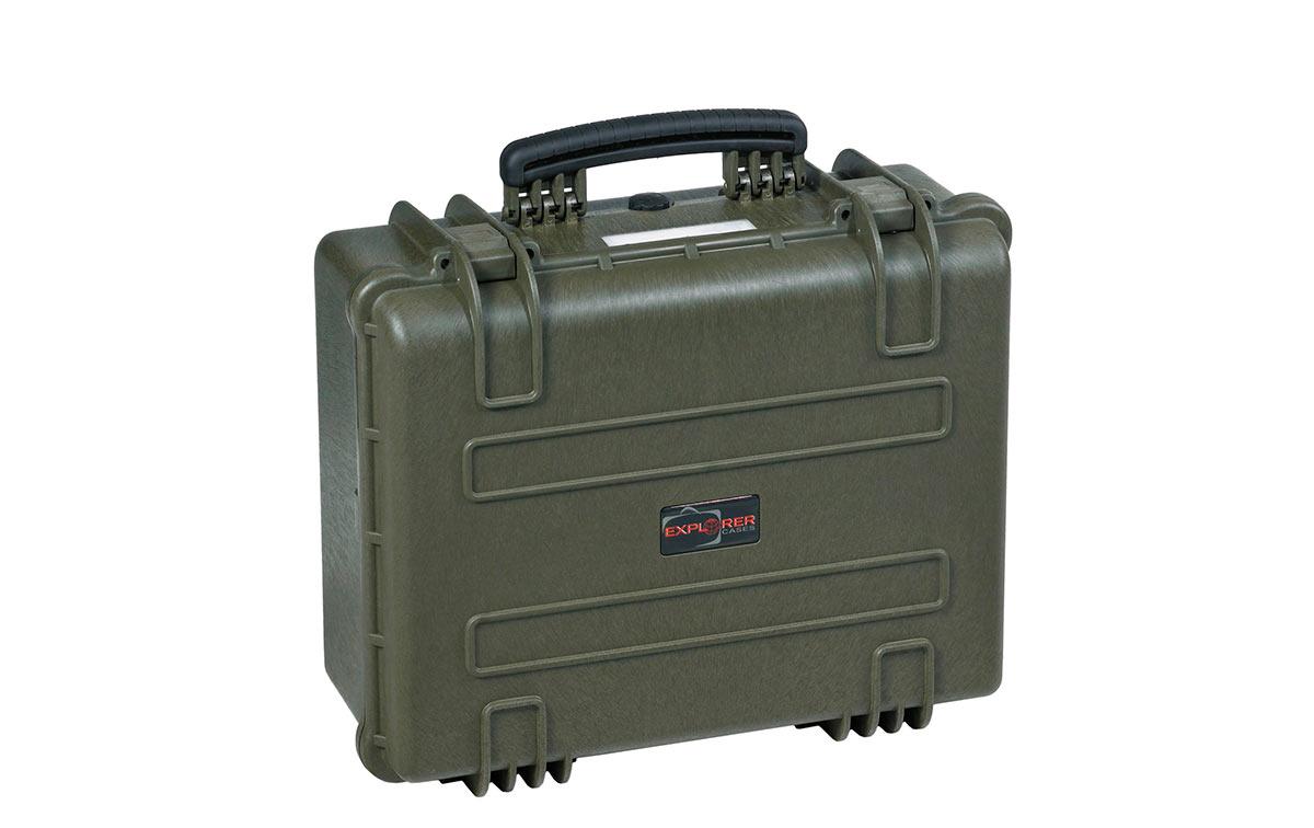 4820G Maleta Explorer verde con espuma Interior L 480 x A 370 x P 205 mm, medidas exterior: Largo 520 x Ancho 435 x Profundidad 230 mm. Maleta de proteccion indestructible de polipropileno ideal para proteger equipos de radiocomunicacion, camaras, de tamaño mediano y accsorios etc., Incluye espuma en su interiores acolchado personalizables. Normativa IP67 estanca al agua y polvo.