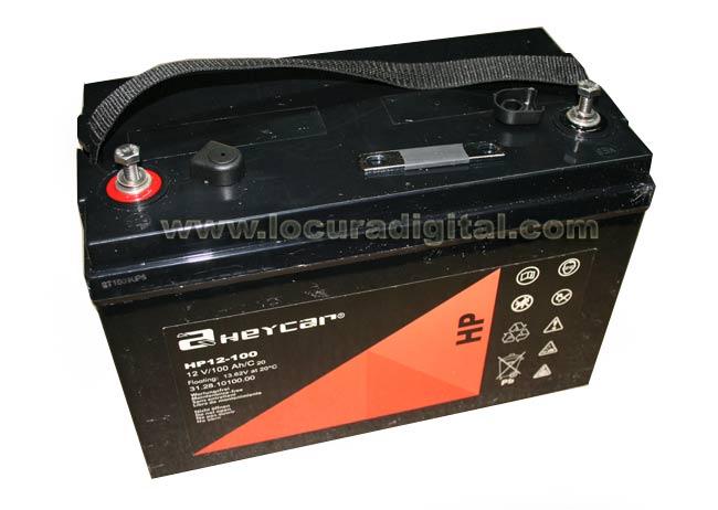 HC12-100 bateria de alta capacidade de chumbo de 12 volts, 100 AH.