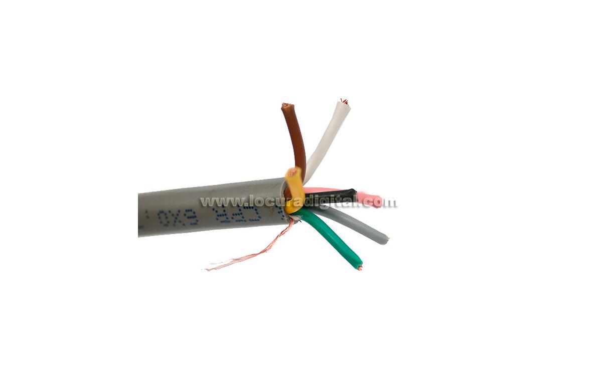 CPR6 M&P Cable para rotor 7 hilos x 0,75 mm.  malla de masa y cubierto de lámina de aluminio