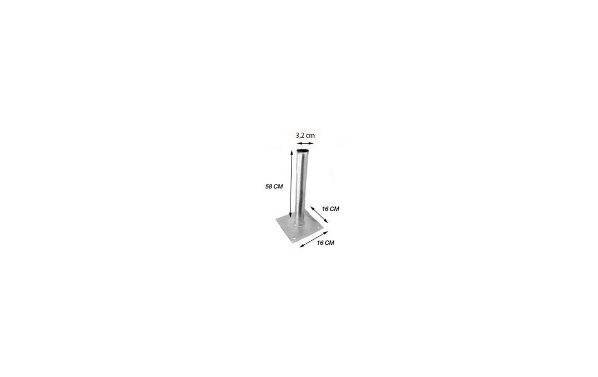 AC7029 Soporte mastil suelo para antenas parabolica de 60/80 cmts y radiocomunicacion