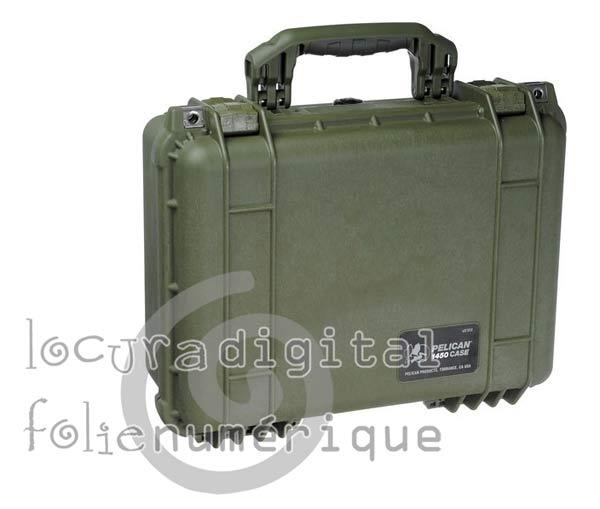 1450000190 Maleta de protección Verde Caqui con espuma